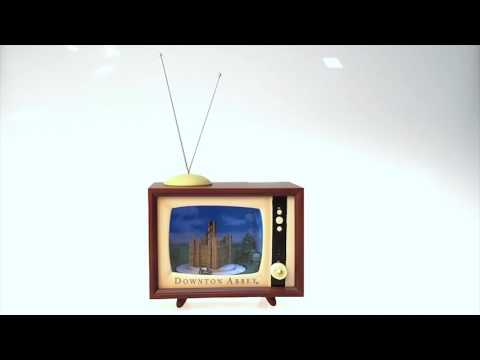 Downton Abbey Vintage TV Set with Music & Motion