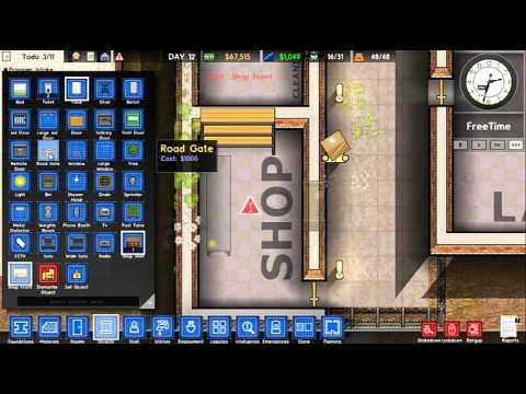 prison architect shop and protecting prisoners youtube. Black Bedroom Furniture Sets. Home Design Ideas