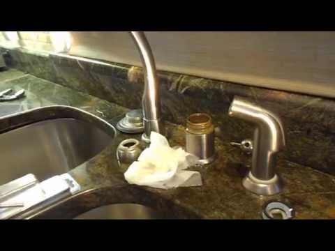 How to replace the washer on a leaking Kitchen Faucet