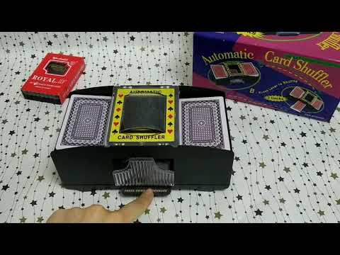 Шафл машинки для перемешивания карт в действии