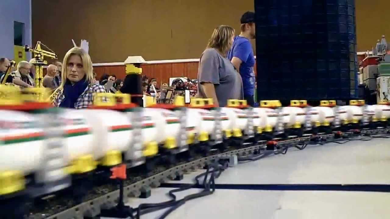 Longest Lego Train Wr Fast Loops Adding Cars Youtube