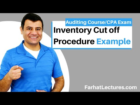 Accounts payable and inventory cutoff test CPA exam Auditing Course example default