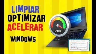 Cómo LIMPIAR, OPTIMIZAR y ACELERAR MI PC SIN PROGRAMAS WINDOWS 10, 8 Y 7