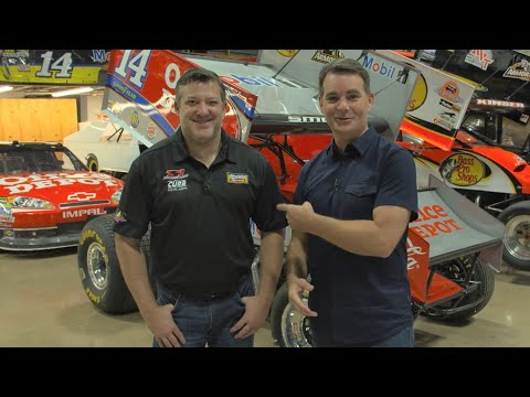 Tony Stewart shows off his absurd car collection to Jeff Gordon | Around the Track