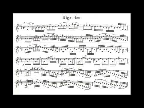 "Kreisler, Fritz  Siciliano and Rigaudon ""In the style of Francoeur"" for violin + piano"