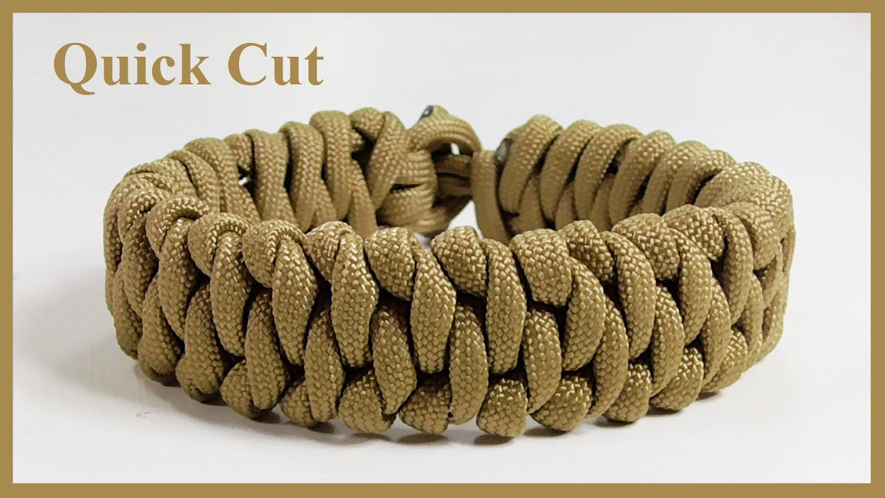 How To Make A January Paracord Bracelet Design Quick Cut
