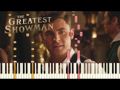 """The Greatest Showman - """"The Other Side"""" [Piano Tutorial] (Synthesia)"""