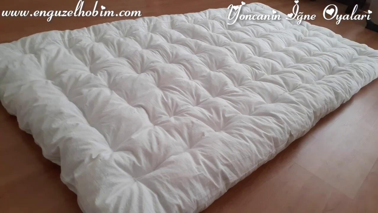 Kolay Yun Yatak Nasil Doldurulur Yapilir Puf Noktalari Ile Evde Yatak Nasil Dikilir Wool Bed Making Youtube
