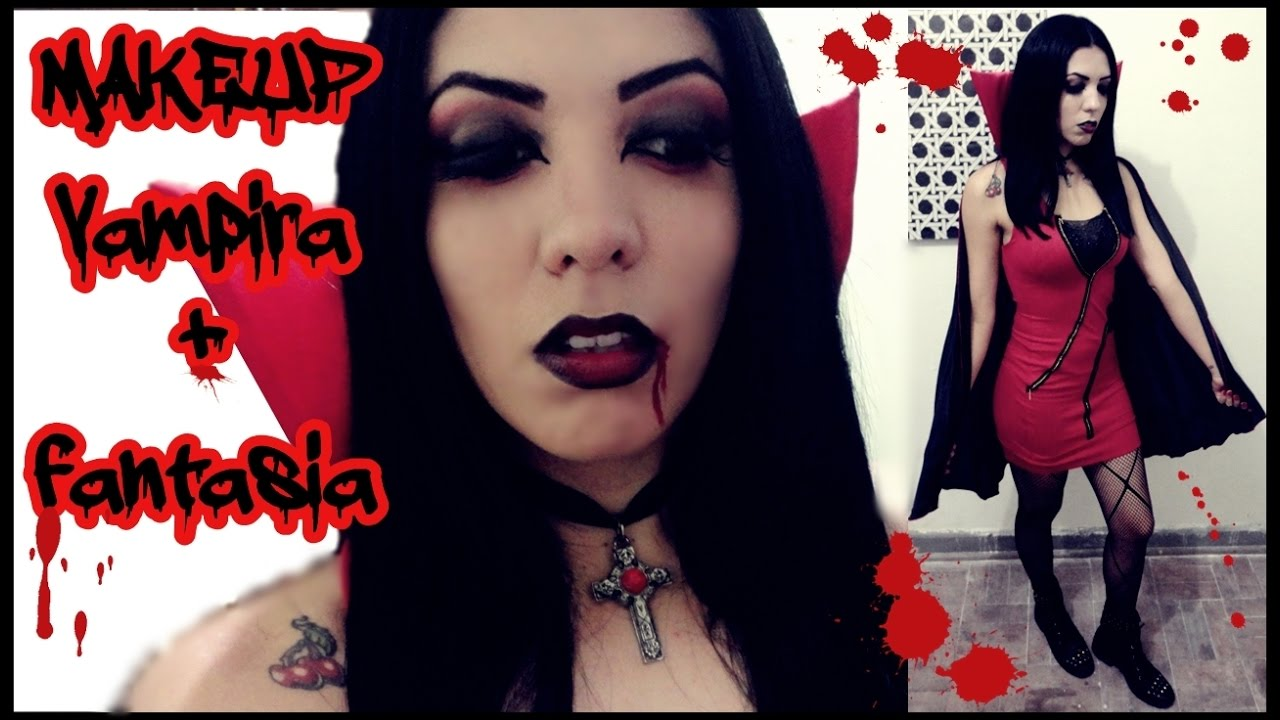 Maquiagem Vampira Muito Fácil 7 Opções De Fantasia E Acessórios
