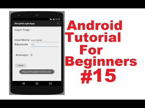 Android Tutorial for Beginners 15 # Android Login Screen Example Part ...