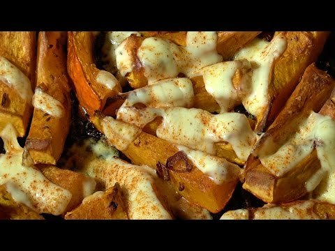 Hokkaido pumpkin yummy oven baked with cheese