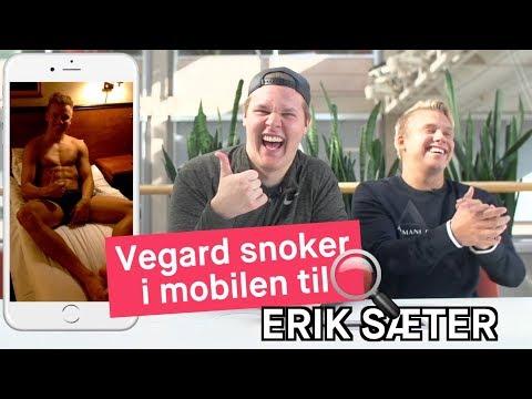 Vegard Harm snoker i mobilen til Erik Sæter