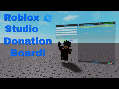 How To Make A Donation Board In Roblox Studio (*WORKING 2021*)