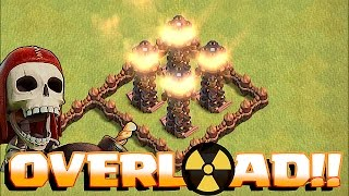 Clash Of Clans - LVL 9 TESLA OVERLOAD!! TROLL DEFENSE (13 day Upgrade)