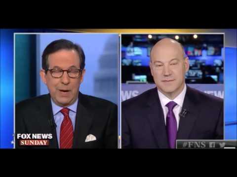 Never Trumper Chris Wallace Tries to debate White House Chief Economic Adviser Gary Cohn