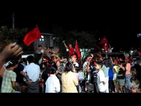 Election Night Celebration in Mandalay #1