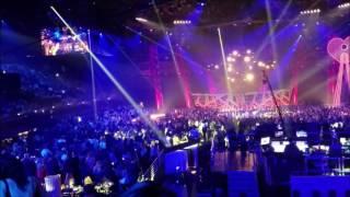 Ed Sheeran performing at 2017 iHeartRADIO Music Awards