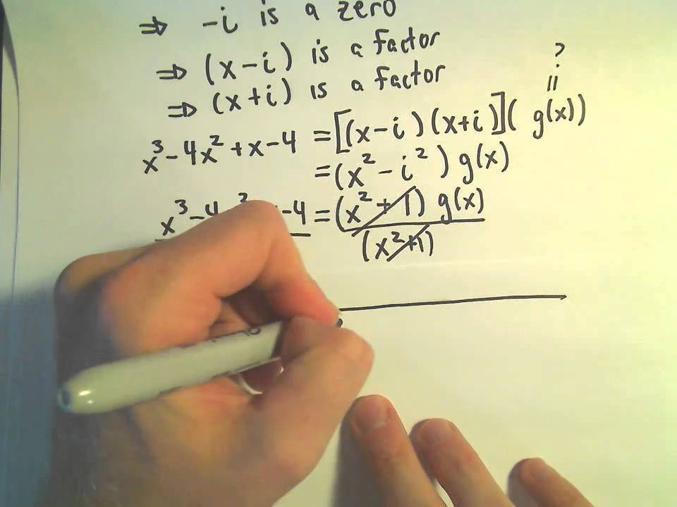 Factor Polynomial Given a Complex / Imaginary Root - YouTube