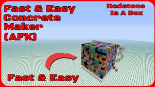 Redstone In A Box: Fast & Easy Concrete Maker! (AFK)