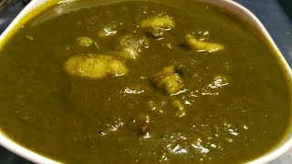 ALOO  PALAK GRAVY| healthy and tasty recipe |