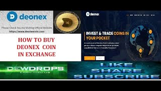 HOW TO BUY DEONEX COIN  IN CRYPTO EXCHANGE  PART  7