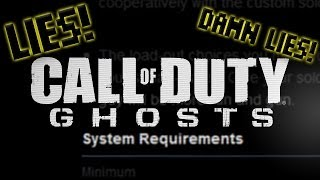 CoD: Ghosts Has FALSE System Requirements