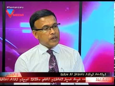 Minister of State for Education Dr Abdulla Nazeer at the Fasmanzaru of VTV