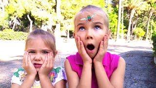 Elina and Julia vs Pesky Flies! Funny Storie for kids