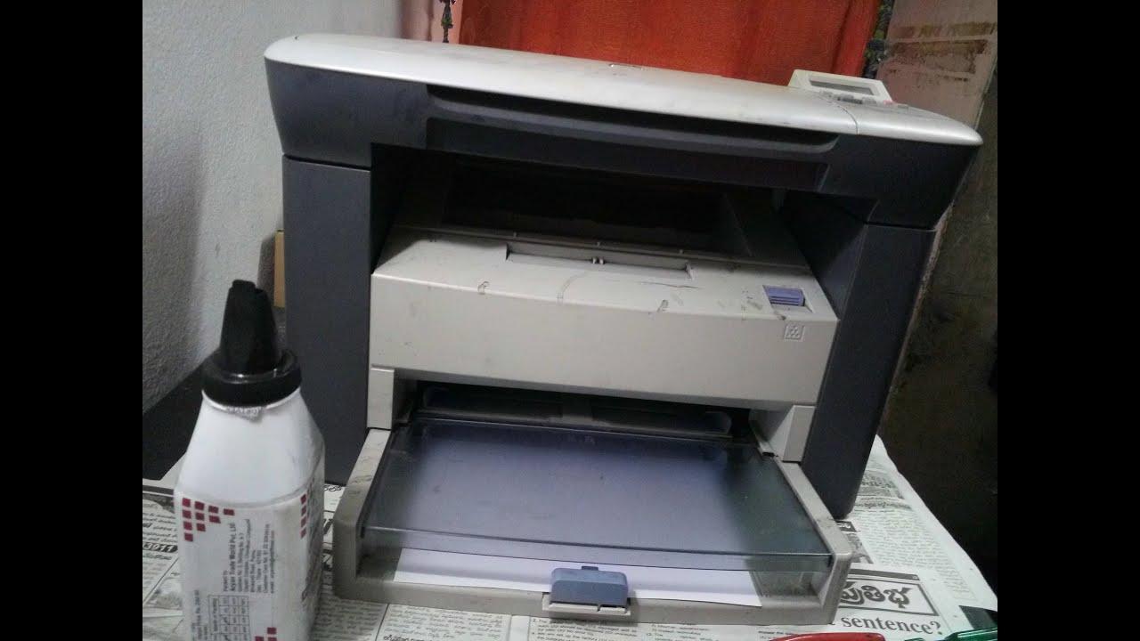 hp laserjet m1005 mfp toner cartridge refill - YouTube