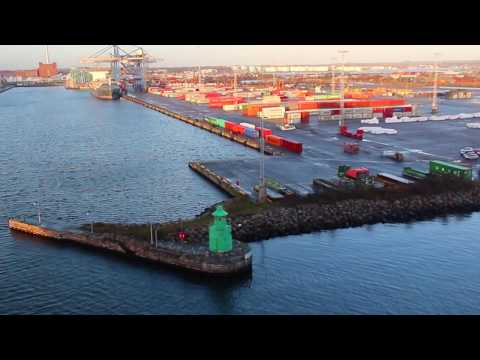 Arriving At The Port of Copenhagen, Denmark