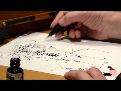 Studio 360: Ralph Steadman Draws Kurt Andersen