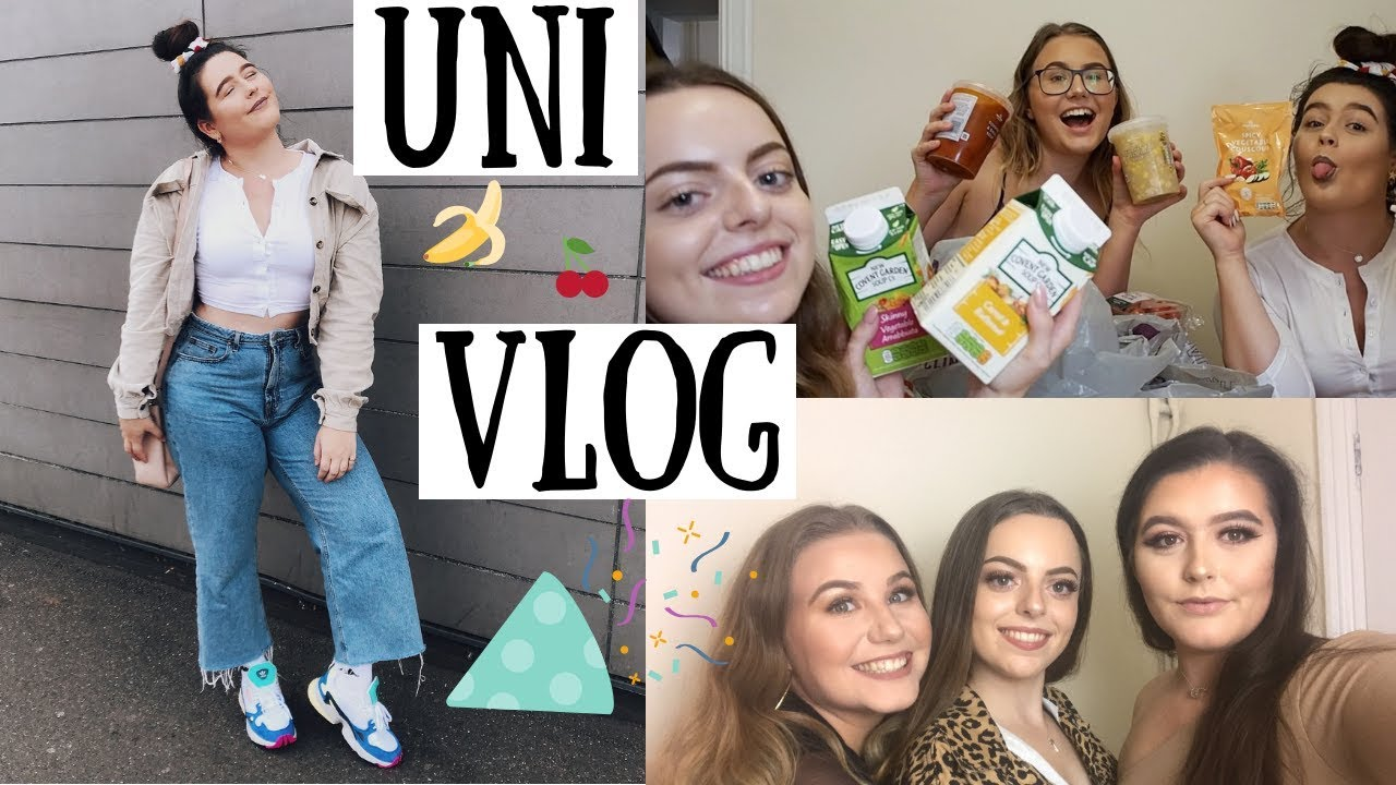 FRESHERS VLOG | Food Shop Haul, Society Fayre & Night Out!
