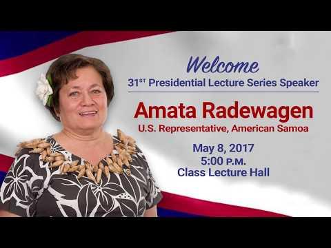 UOG Presidential Lecture Series - Amata Radewagen