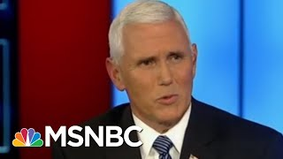 Mike Pence's Views On Whistleblowers Now And Then | Morning Joe | MSNBC