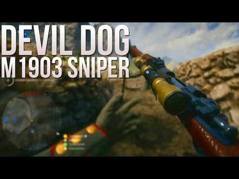 "Legendary Sniper Skin - ""Devil Dog"" M1903 Sniper Gameplay - PS4 64 Man Operations Monte Grappa"