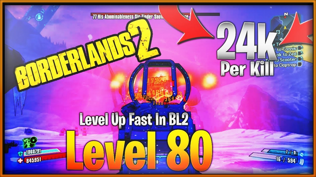 Fastest Way To Reach Level 80 In Borderlands 2 - Best Farm For XP In Bl2-  Level 72 To Level 80 Guide