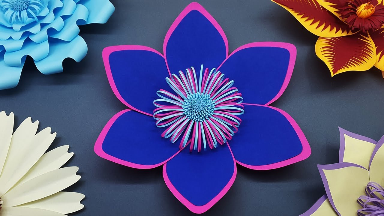 How To Make Paper Flower For Wedding Backdrop Diy Paper Flowers Wall Decorations