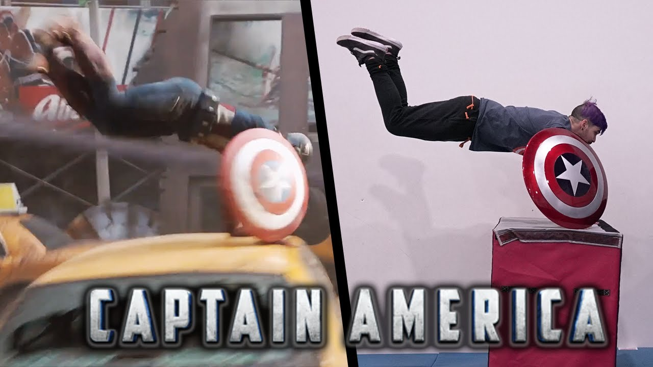 Stunts From Captain America In Real Life (Endgame, Civil War)