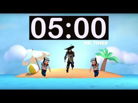 5 Minute Timer with Music for Children, Kids, Classroom! 5 Minute Countdown  Video, Satisfying Timer!