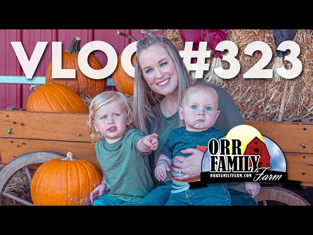 VLOG #323 / The Young Bro's 1st Trip to Orr Family Farm! / October 17, 2021