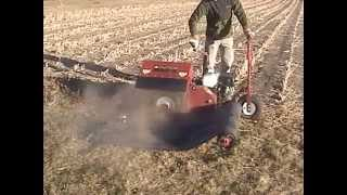 Trenchnedge Micro Trencher Fiber Optic Cable Installation with Tidy Trencher Tarp