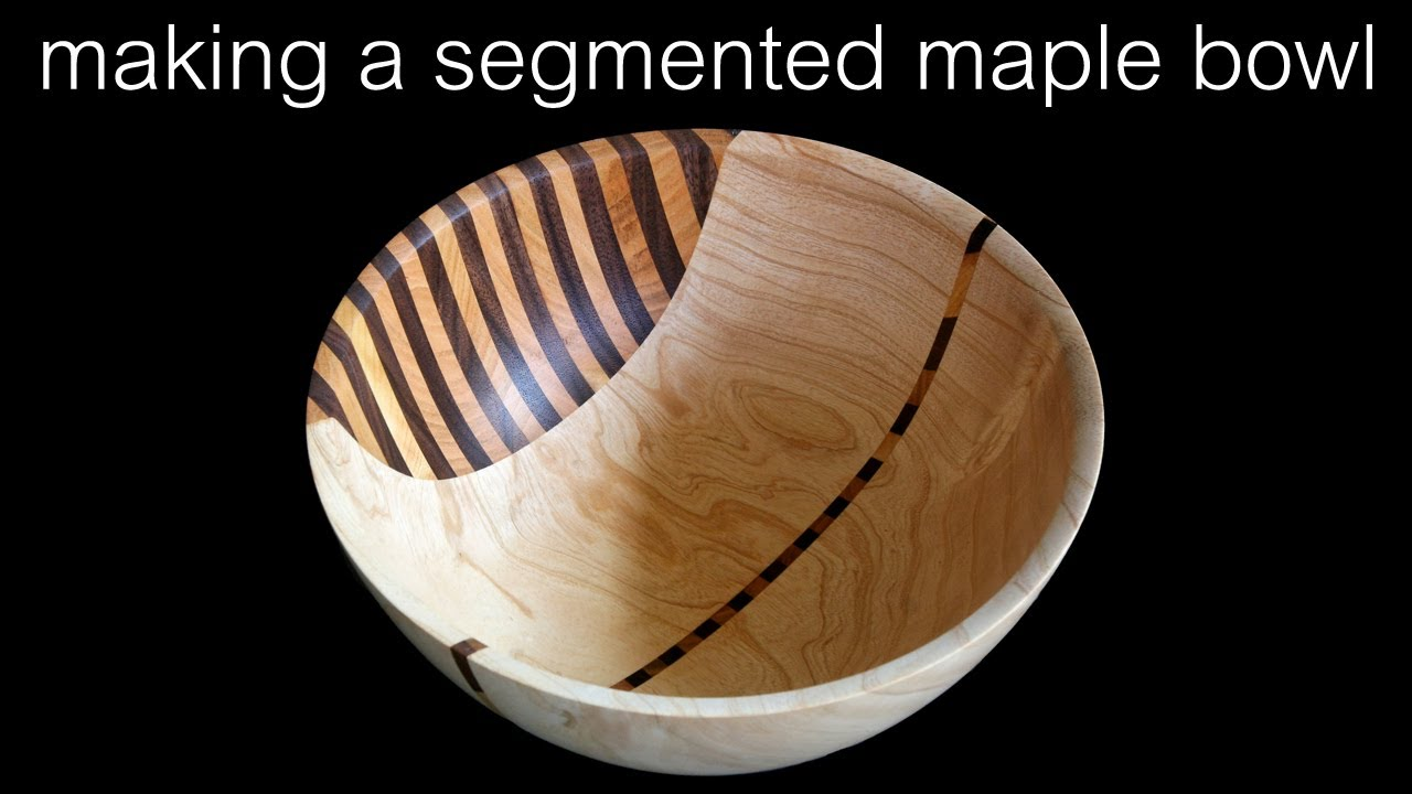 Making wooden bowls Painted Wood Segmented Wood Turned Maple Bowl Youtube Segmented Wood Turned Maple Bowl Youtube