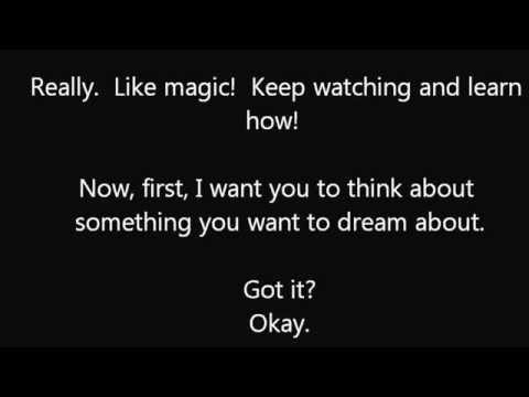Want to dream what you want to dream?