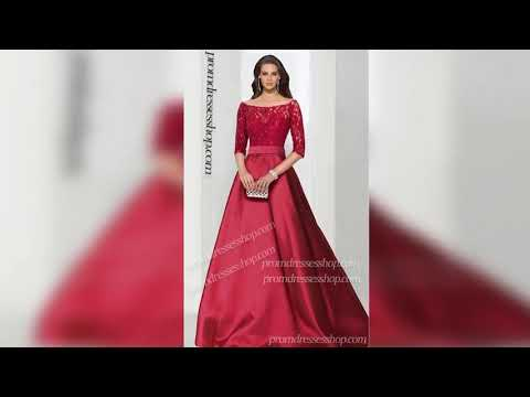 a-line-off-the-shoulder-lace-and-satin-zipper-back-regular-straps-sleeve-floor-length-dress