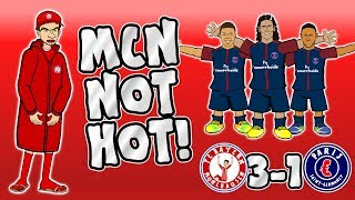 MCN NOT HOT Bayern vs PSG 3-1 Parody Goals Highlights Champions League 2017