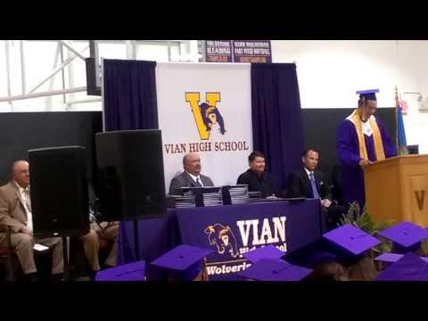 Tylnn's Valedictorian speech 2015 Vian High School