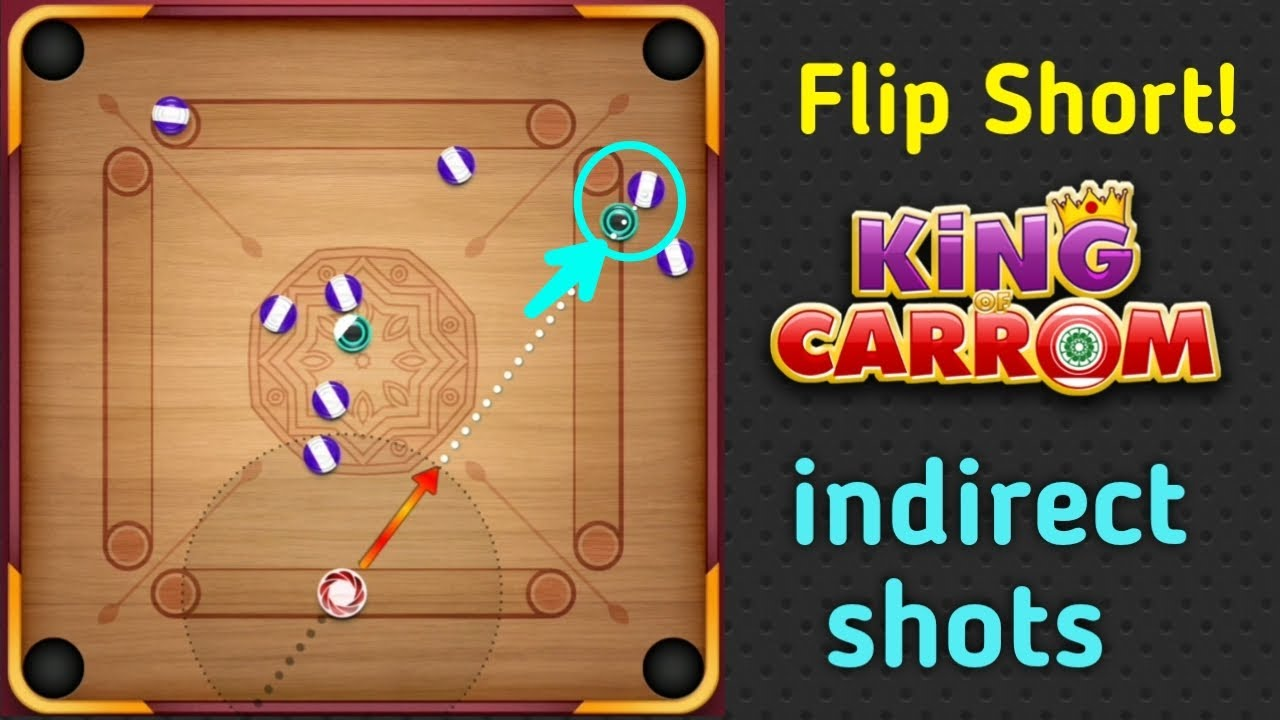 Flip Short / Carrom Pool / indirect game play / Gaming Nazim 🤪🤪