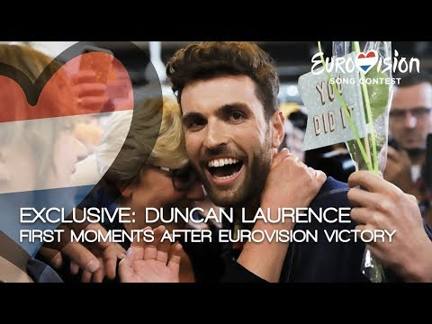 Exclusive: Duncan Laurence first moments after Eurovision victory | TeamDuncan
