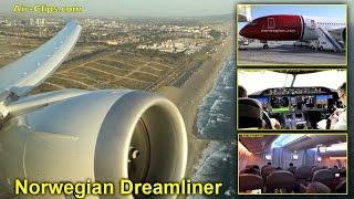 Norwegian Boeing 787-8 Los Angeles-Oslo, STUNNING VIEWS, Premium Class [AirClips full flight series]