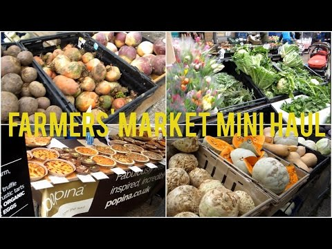 Notting Hill Farmers' Market Mini Haul!